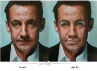Nicolas Sarkozy remaquillé