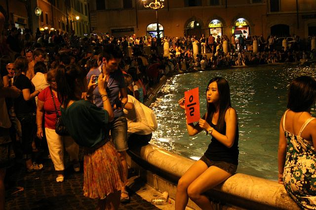 Rome, fontaine de Trévie.