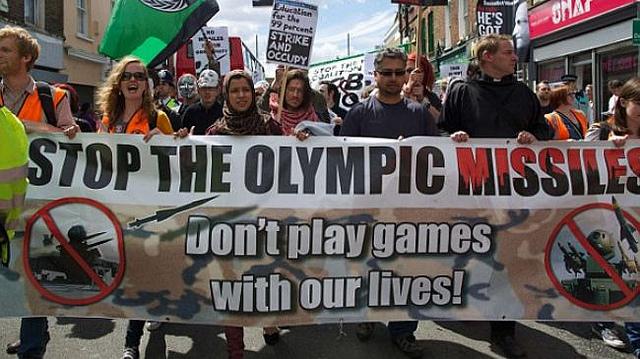 manifestation anti Jeux olympiques2012