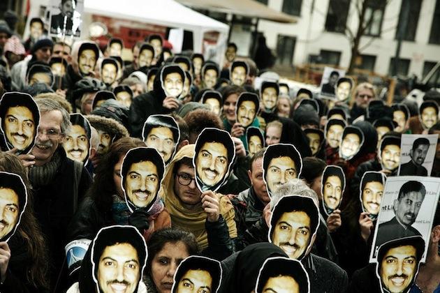 Manifestation de soutien à Abdulhadi al-Khawaja organisée par Amnesty International au Danemark
