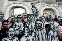 Les silhouettes des martyrs de la révolution tunisienne